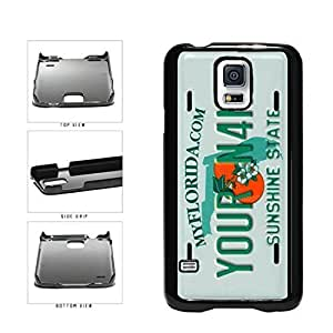 Personalized Custom Florida License Plate Plastic Phone Case Back Cover Samsung Galaxy S5 I9600