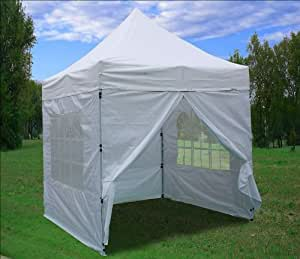 delta canopies 8 39 x8 39 pop up 4 wall canopy party tent gazebo ez white patio. Black Bedroom Furniture Sets. Home Design Ideas