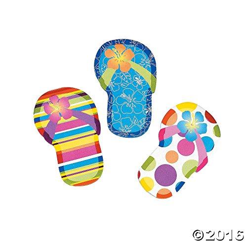 Notepad Summer (Fun Express Flip Flop Sticky Notes (2 Dozen)   Summer Office Supply & Party Favor Item)