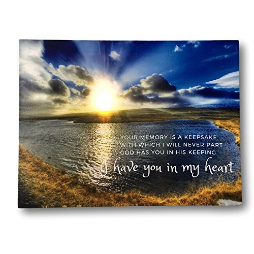 Religious Canvas - BANBERRY DESIGNS LED Canvas Wall Art Remembrance - Lighted Print with a Memorial Bereavement Expression - Landscape Artwork