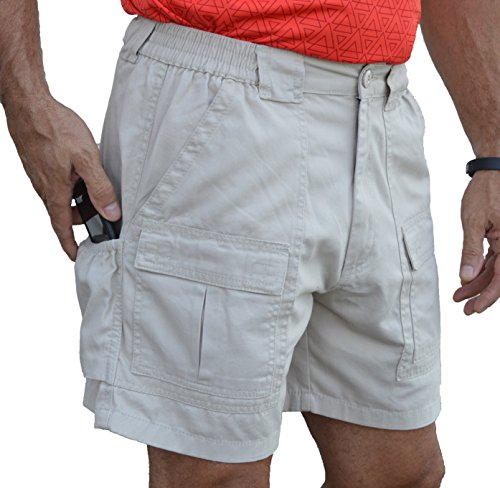 Trod Men's Cargo Short with Side Pocket and 6 inch Inseam ...