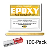 Hardman Double Bubble Yellow-Label Machinable Epoxy 100 Packs (#04002)