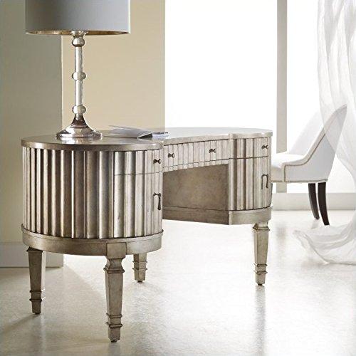 Hooker Furniture 638-10006 Melange Fluted Kidney Desk, Silver from Hooker Furniture