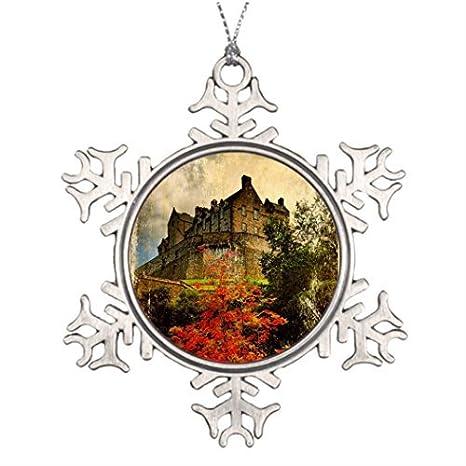 Amazon Com Personalised Christmas Tree Decoration Edinburgh Castle