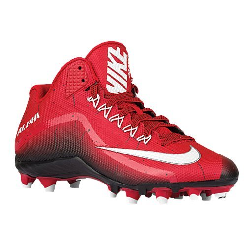 Nike Mens Alpha Pro 2 3/4 TD Football Cleats (11.5, Red/Black)