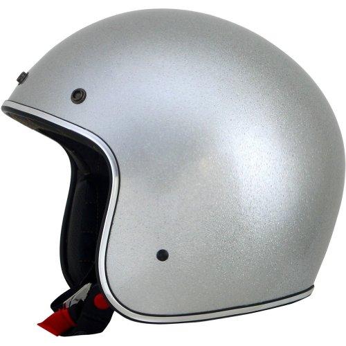 AFX FX-76 Solid Helmet , Gender: Mens/Unisex, Helmet Type: Open-face Helmets, Helmet Category: Street, Distinct Name: Silver Metallic Flake, Primary Color: Silver, Size: Sm 0104-1220