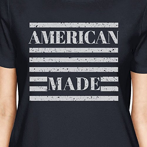 Printing Shirt Manches American 365 Made Womens Navy Courtes Taille Femme T shirt Unique dxwSB