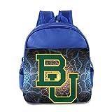 DCM500 Funny Baylor University Toddler Backpack School Backpack For 3 - 6 Years Child Boys Girls RoyalBlue