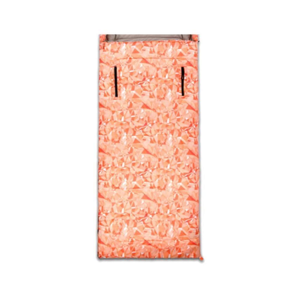 Orange Camo 1400g  Leger Sac de Couchage Coton de Survie froidimpermeable Sac de couchageLe Voyage en Camping Quatre Saisons en Plein air Peut Atteindre Le Sac de Couchage