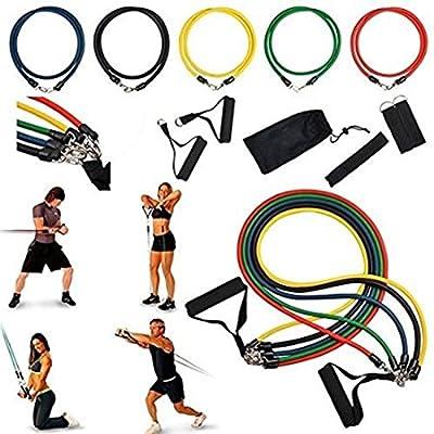 Resistance Band Set Yoga Pilates Exercise Fitness - A3