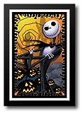 The Nightmare Before Christmas (blacklight) 27x39 Framed Art Print