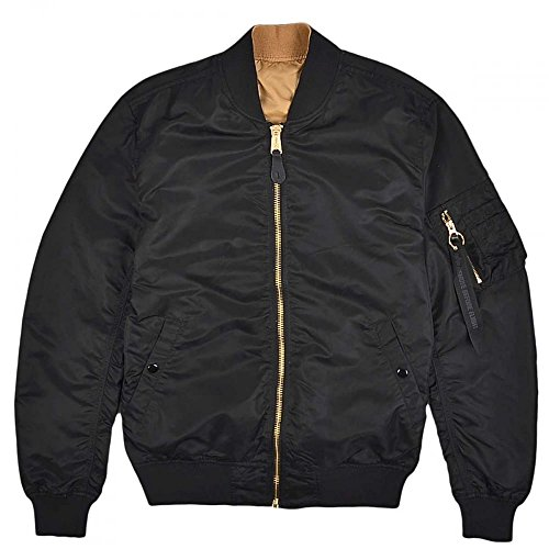 Chaqueta Industries LW VF Alpha Black MA Reversible bomber 1 A7wxF