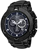 Invicta Men's Jason Taylor Quartz Watch with Black Dial Chronograph Display and Black Stainless Steel Bracelet 14413