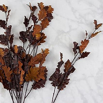 for Indoor Decor Factory Direct Craft Poly Silk Autumn Brown Daisy Foliage Sprays 6 Sprays