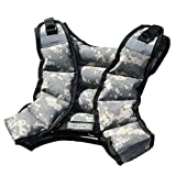 CROSS101 12lbs Weighted Vest Camouflage Workout Weight Vest Training Fitness Unisex-new!