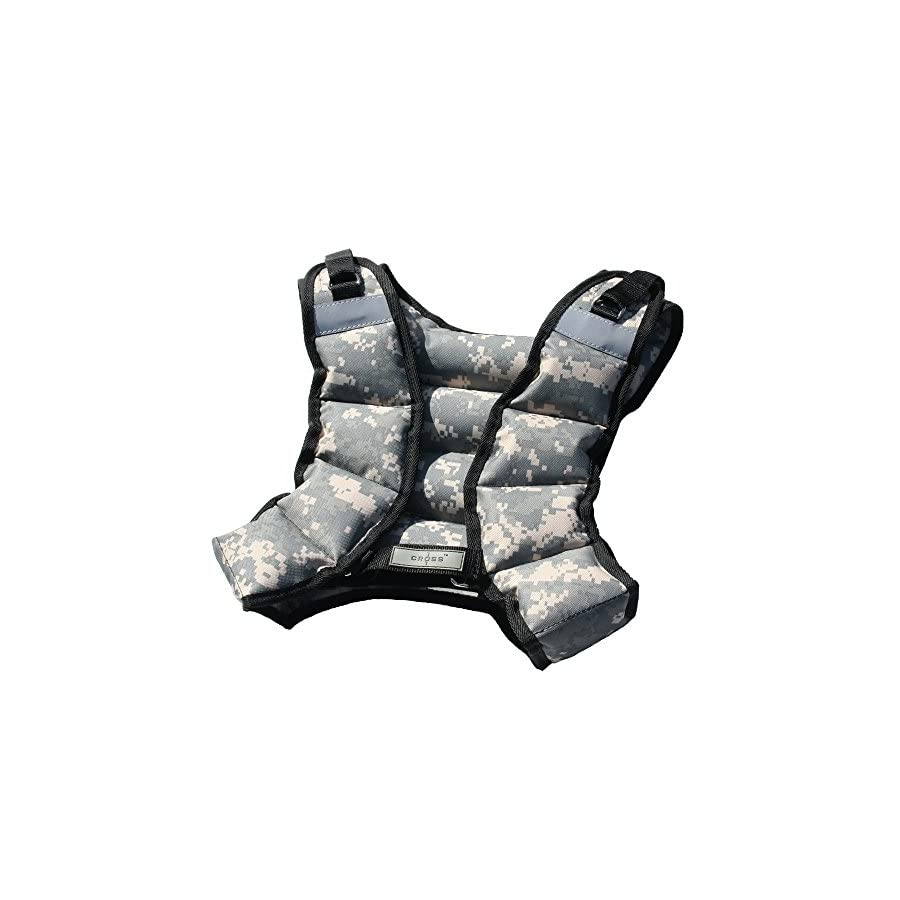 CROSS101 ADJUSTABLE CAMOUFLAGE WEIGHTED VEST 12LBS 140LBS (DESERT 12LBS)