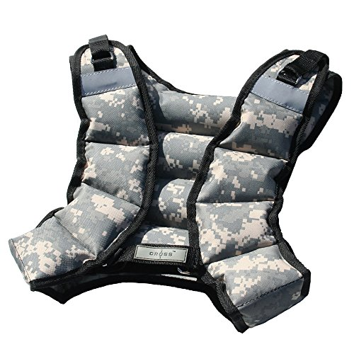 CROSS101 12lbs Weighted Vest Camouflage Workout Weight Vest Training Fitness Unisex-new! by CROSS101