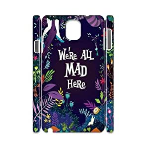 DDOUGS I We are all mad here Best Cell Phone Case for Samsung galaxy Note 3 N9000, Custom Samsung galaxy Note 3 N9000 Case