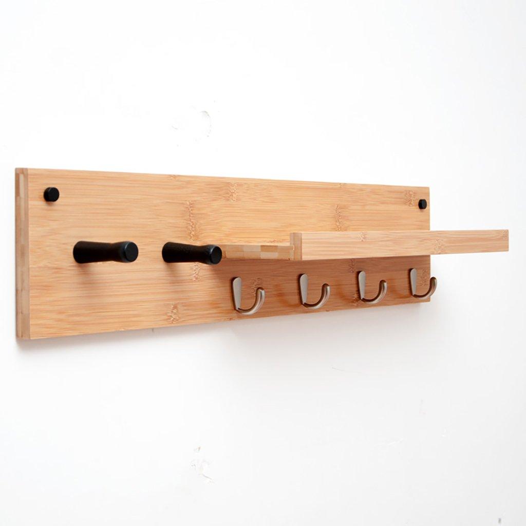 ソリッドウッドコートラックリビングルームシンプルな壁掛け木製のハンガー玄関入り口ノルディックハンギング壁掛けフック (サイズ さいず : 74 * 13 * 16cm) 74*13*16cm  B07FFL2D93