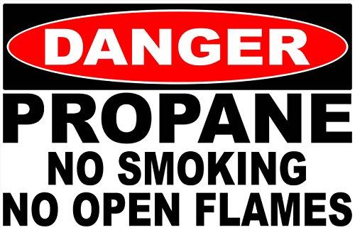 Danger Propane No Smoking No Open Flames Decal. 11
