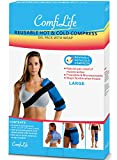 ComfiLife Ice Packs for Injuries – Reusable Hot & Cold Pack with Wrap – Flexible Gel Pack Ice Wrap for Back Pain, Knee, Shoulder, Neck, Hips – Heat & Cold Therapy Relief – Money Back Guarantee – Large