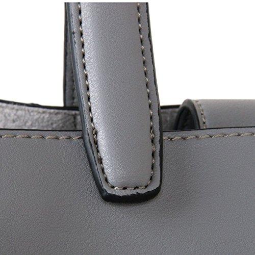 Bag London Designer Cuckoo Red Tote Grey pfqInTqOz
