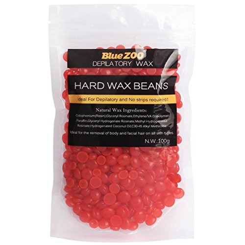 Leoy88 Hard Wax Beans 100g, Natural Wax Beans Depilatory Wax Bikini Hair, Body, Legs,Underarms Removal for Women Men (Strawberry)