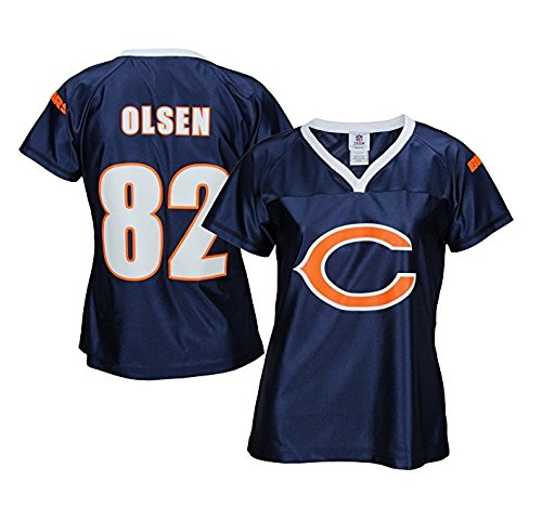 finest selection 9cdd3 e5390 Chicago Bears NFL Womens GREG Olsen # 82 Fashion Dazzle Jersey, Navy