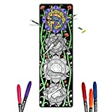 Color In Yoga Mat - Adult Coloring Book Style Exercise Yoga & Pilates Mats, Bonus Carrying Case with Pocket - Yoga - By Yogartistic