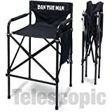 "Personalized Imprinted ""Quad Style"" Tall Aluminum Directors Chair"