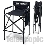 PERSONALIZED IMPRINTED ''Quad Style'' Tall Aluminum Directors Chair