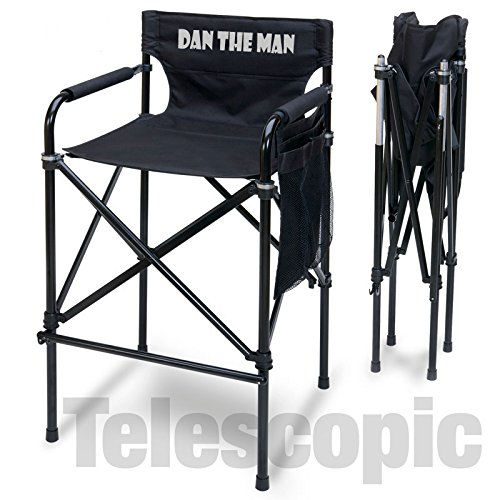 PERSONALIZED IMPRINTED ''Quad Style'' Tall Aluminum Directors Chair by Pacific Imports