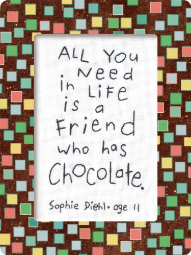Kids Quotes Friends & Chocolate Embroidery Kit 6