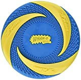 Wham-O Pets Rubber Fetch Classic Dog Frisbee, 9', Blue & Yellow