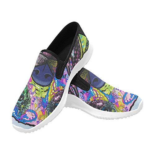 Story D Slip Sneakers 1 Womens On Eye Zombie Dog Canvas Shoes UqrPTxdqAw