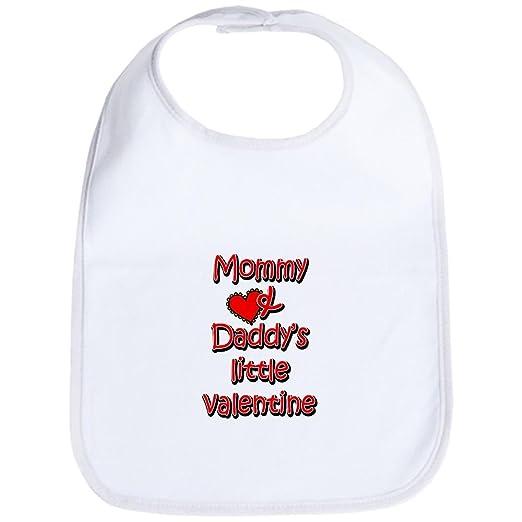 fed07d872 Amazon.com: CafePress - Mommy and Daddy's little valentine Bib - Cute Cloth  Baby Bib, Toddler Bib: Clothing