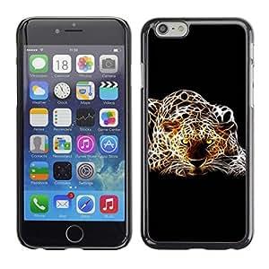 PC/Aluminum Funda Carcasa protectora para Apple Iphone 6 Plus 5.5 Cheetah Leopard Dots Art Photo Yellw Eyes / JUSTGO PHONE PROTECTOR