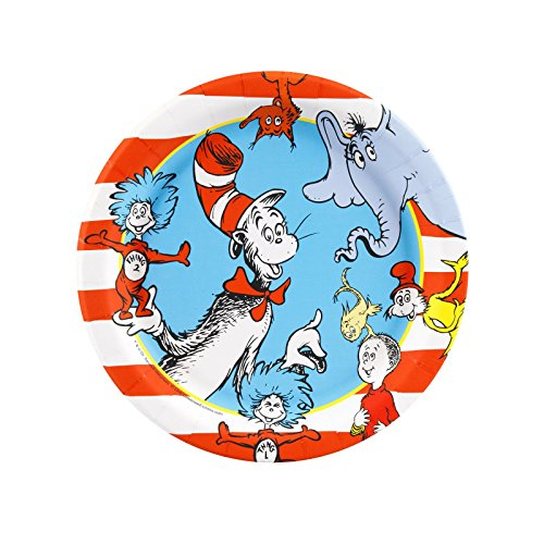 Dr Seuss Party Supplies - Dessert Plates (8)