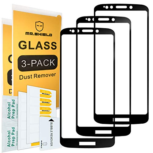[3-PACK]-Mr Shield For Motorola Moto G6 Play [Japan Tempered Glass] [9H Hardness] [Full Cover] Screen Protector with Lifetime Replacement Warranty