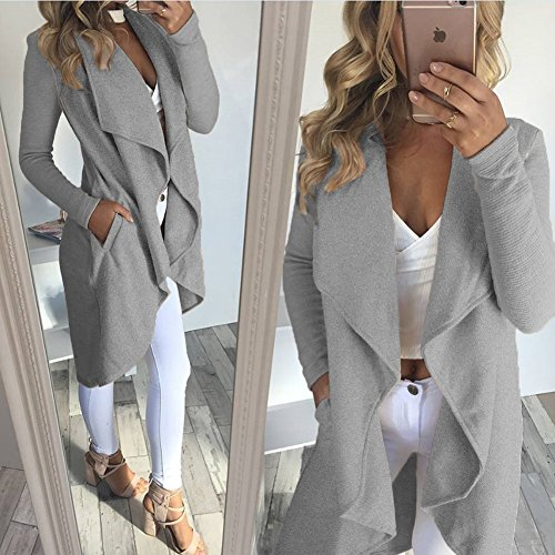 Gray Giacca Donna Giacca Ecowish Donna Ecowish 7qRznPnvw