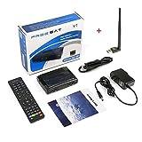 Original Free Sat FTA 1080P Digital V7 HD Satellite Receiver DVB-S2 Satellite Decoder Support PowerVu,DRE & Biss key USB Wifi to Network Sharing