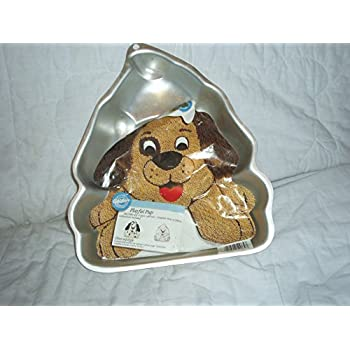 Amazon Com Wilton Playful Pup Dog Cake Pan Retired 2105