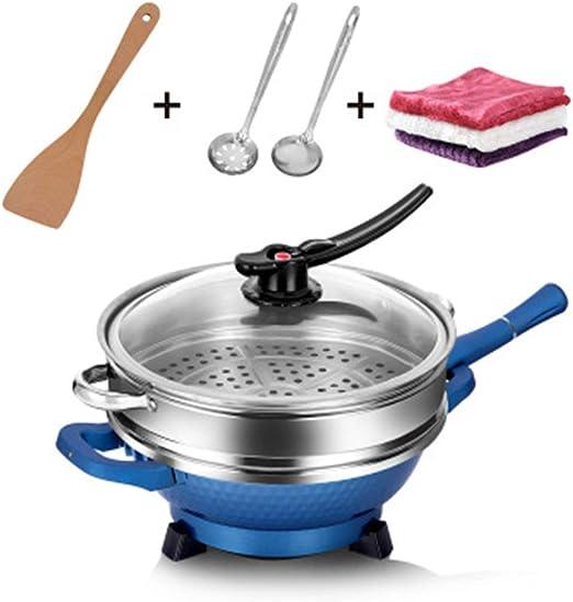 Stainless Steel Wok No Oil Smoke Non Stick Pan Flat Bottom Home Cooking Pot US