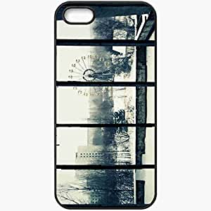 Protective Case Back Cover For iPhone 5 5S Case Pripyat Zone Window Home Roundabout Trees Black