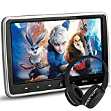 "NOAUKA 10.1"" Ultra Thin Portable Digital HD TFT LCD Headrest DVD Player Car Multimedia Wide Screen Display Player Headrest Monitor HDMI Remote Control IR Headphone"