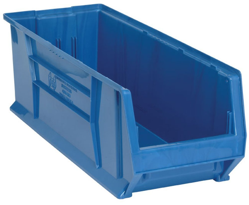 Quantum QUS973 Plastic Storage Stacking Hulk Container, 30-Inch by 11-Inch by 10-Inch, Blue, Case of 4 by Quantum Storage Systems B0051XS1MK