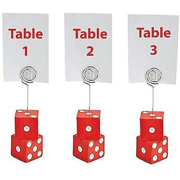 Bunco Dice Place - Tarjetero con números de Mesa 1, 2 y 3: Amazon ...
