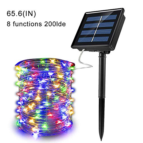 gdfh 200 LED Solar String Lights Outdoor, Waterproof 8 Modes Fairy Lights for Garden Patio Yard Wedding Party