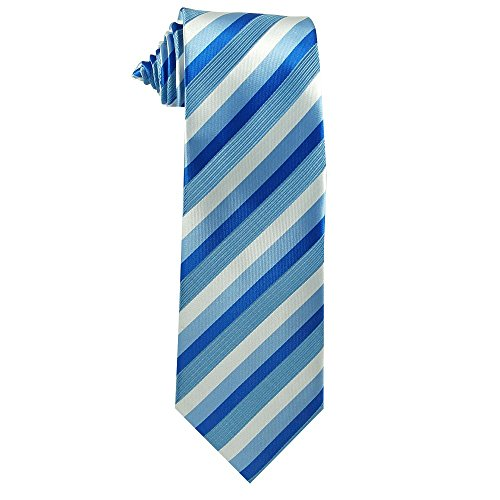 Children's Tie (ages 8-14 years old) Capri, Cornflower and Horizon Blue Stripes Youth Tie