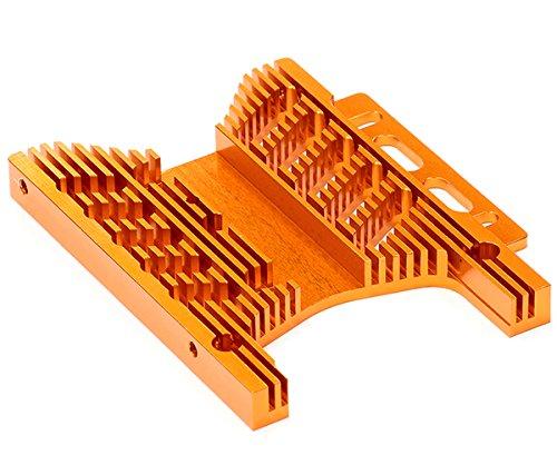 Integy RC Model Hop-ups T6944ORANGE Billet Machined Heatsink Motor Plate for HPI Savage Flux Savage Motor Plate